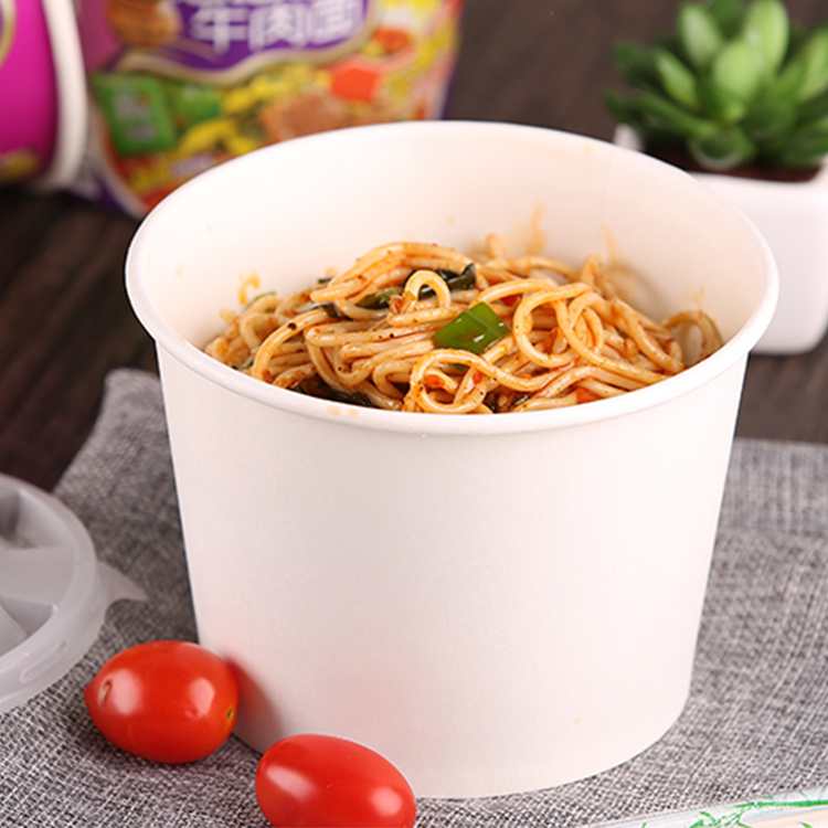 Custom Design Printed Instant Noodles Paper Cups 500ml