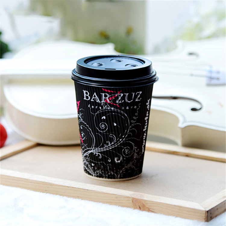 ripple wall coffee paper cups custom printed take away coffee paper cup
