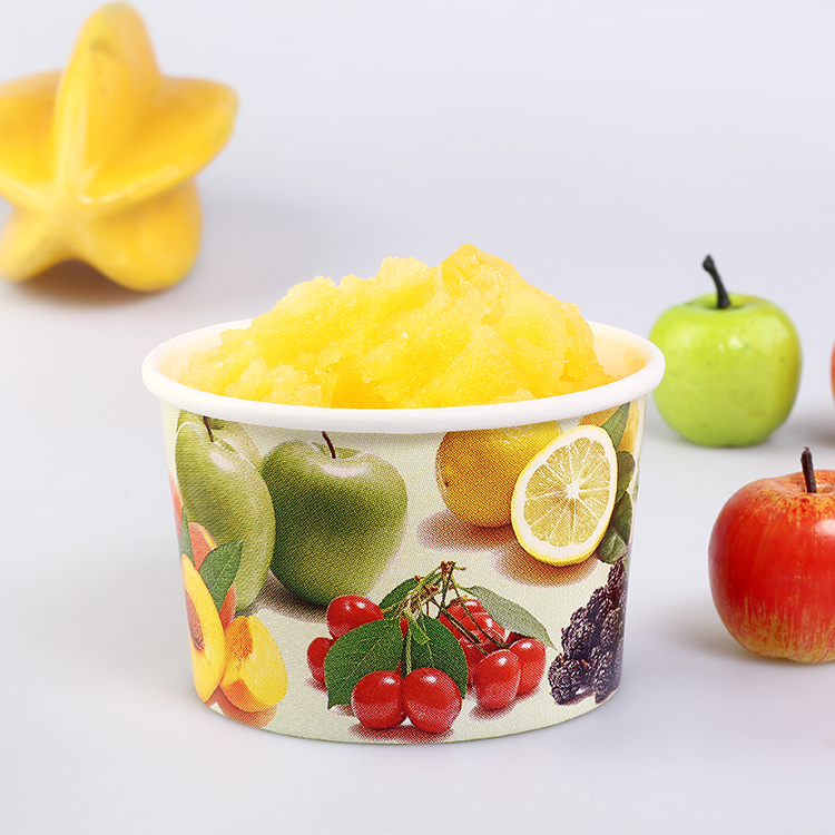 Biodegradable yogurt disposable paper bowl for ice cream