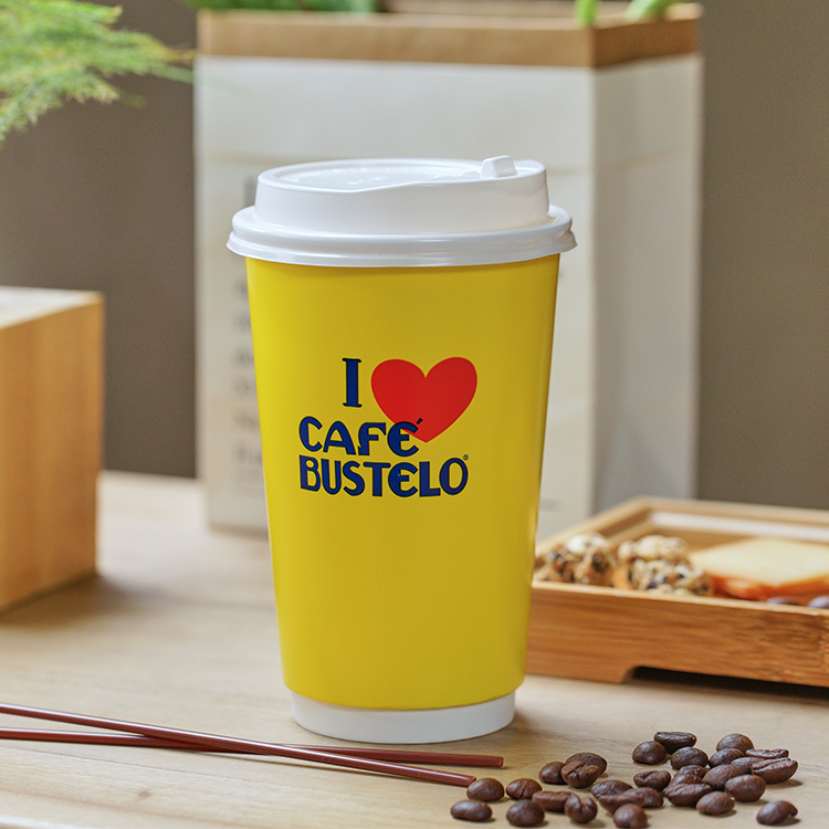 Wholesale Cheap Custom Printed Biodegradable Disposable Pla Coffee Cup Double Wall