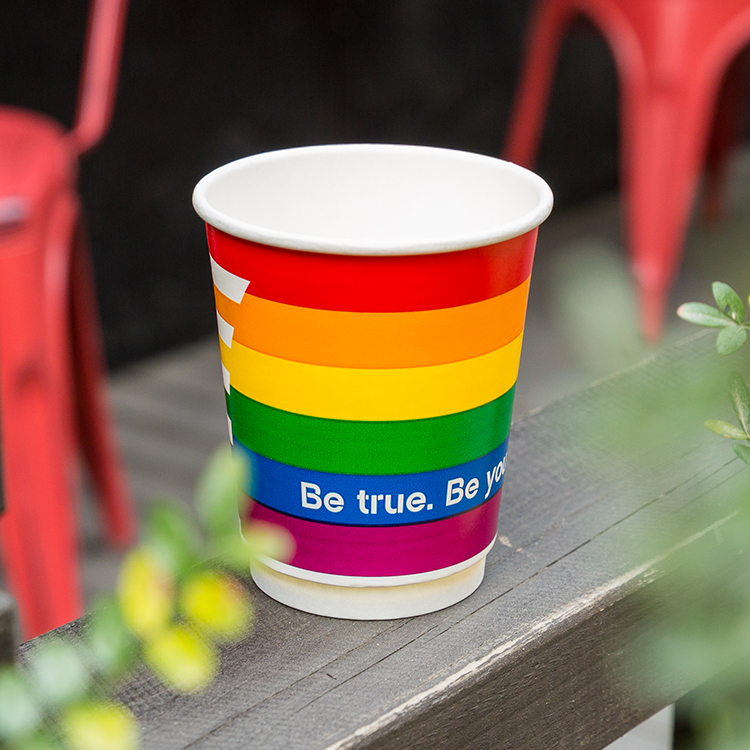 100% Biodegradable Disposable Pla Coated Coffee Paper Cup