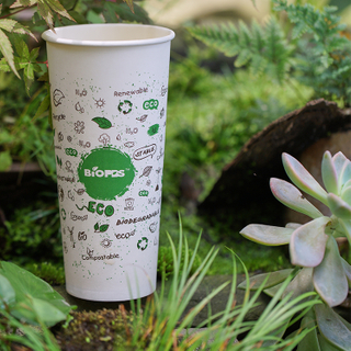 Takeout Customized Disposable 16oz Coffee Cup with Sleeve White Paper Cups