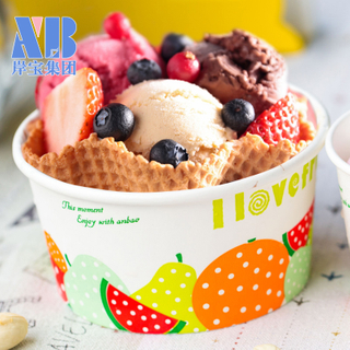 Eco-Friendly Customized Frozen Yogurt ice cream package cup With Lid