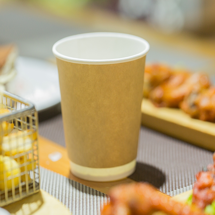 Kraft Biodegradable 6oz Brown Kraft Paper Cup For Coffee Paper Cup