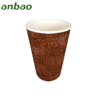 quality and quantity assured fan ripple wall paper cup