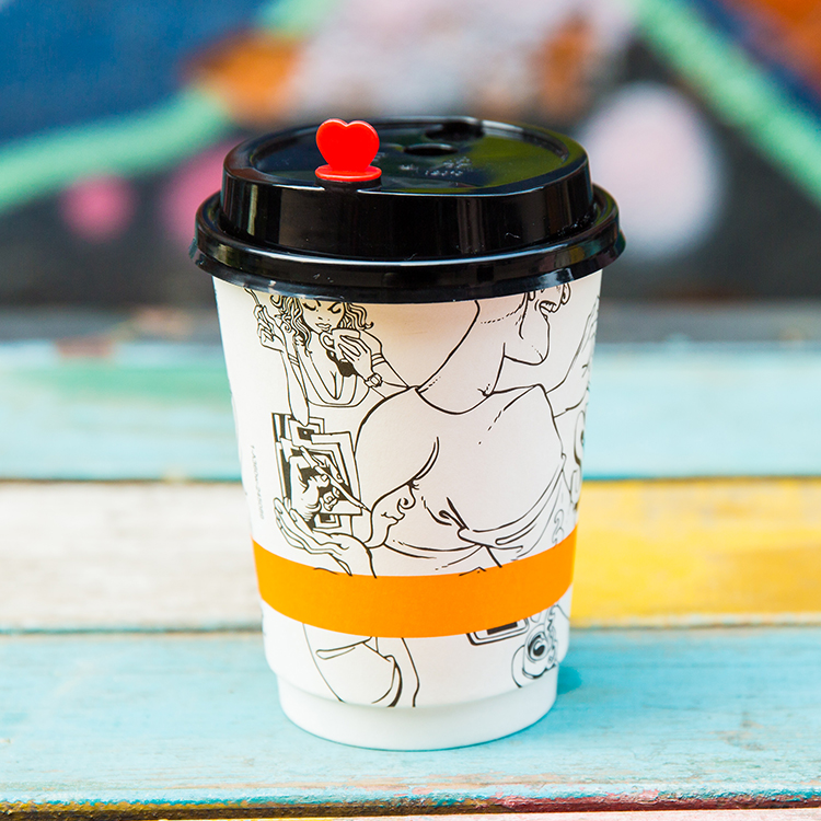 Eco Friendly Factory Direct Sale Cute Patented Double Wall Biodegradable Personalised Coffee Cups With Lids
