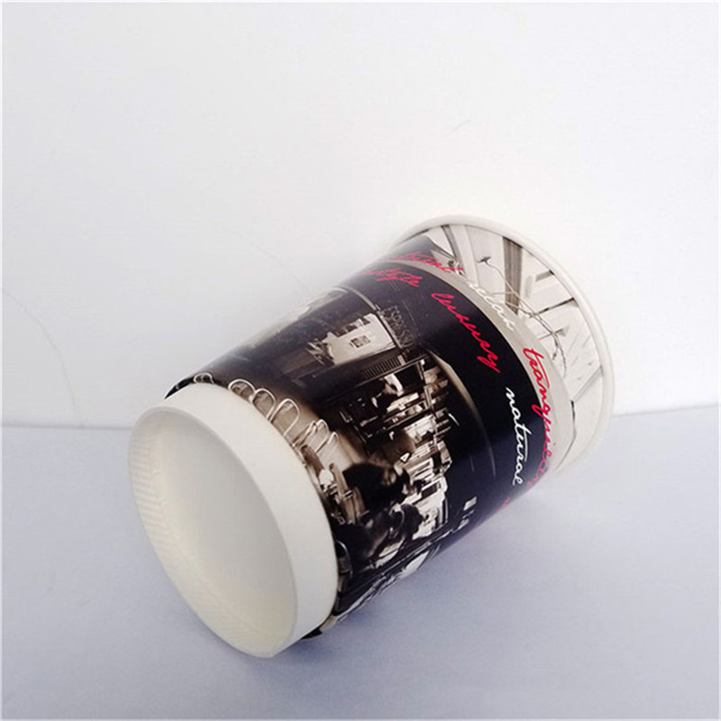 Disposable Custom Logo Double Wall 12oz 14oz 16oz Paper Coffee Cups with Lids