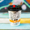 Custom Printed 8oz 9 oz 10oz Personalised Disposable Coffee double wall paper cup with Lids