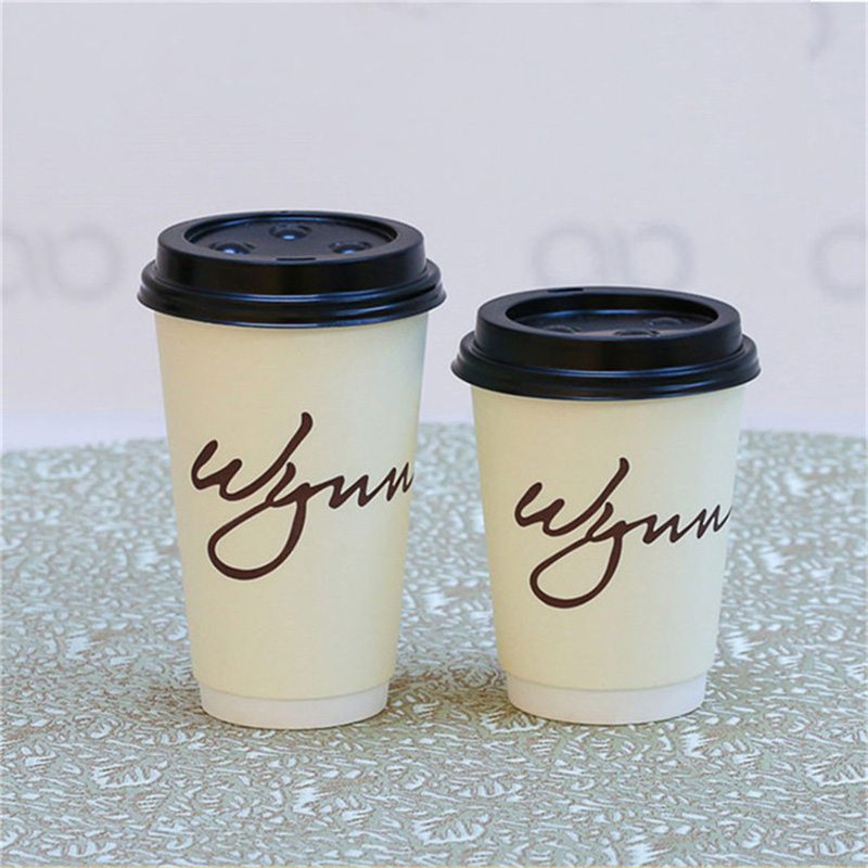 8oz disposable paper coffee cup with lid