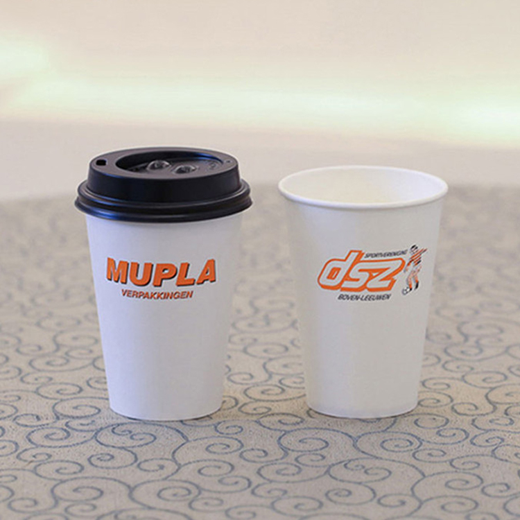 Single wall disposable coffee paper drink cups