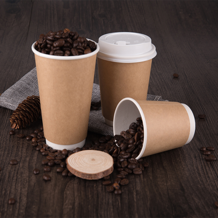 Small Disposable Paper Coffee Cups With Lids And Sleeve Straw Package Customized Supplier Wholesale Manufacturer