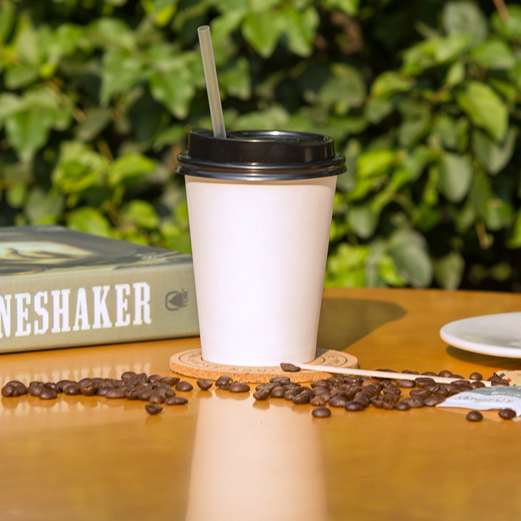 100% Compostable Biodegradable PLA Coating Coffee Paper Cups