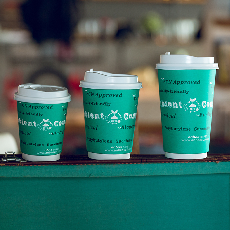 Double Wall Paper Cups Single Use Takeout Cup Coffee To Go Cups