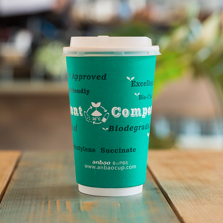Wholesale Eco Friendly BioPBS Compostable Paper Cups