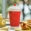 Eco Friendly Take Away Ripple Paper Cup With Lid