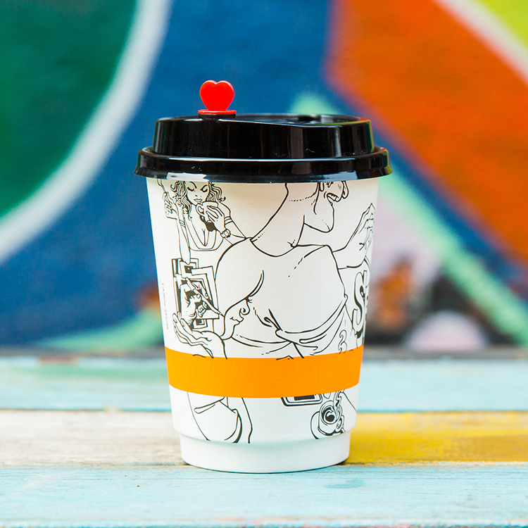Custom logo Printed Wholesale Price 2.5oz-16oz Small Disposable Coffee Cups with Lids