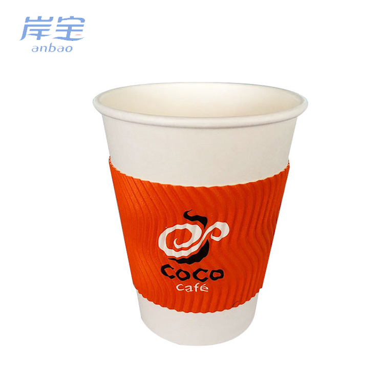 convenient to carry custom printed takeaway coffee cups hot chips takeaway coffee paper cup and lids
