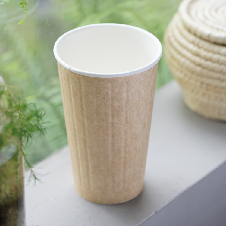 Custom Biodegradable Disposable Take Away Coffee Paper Cups