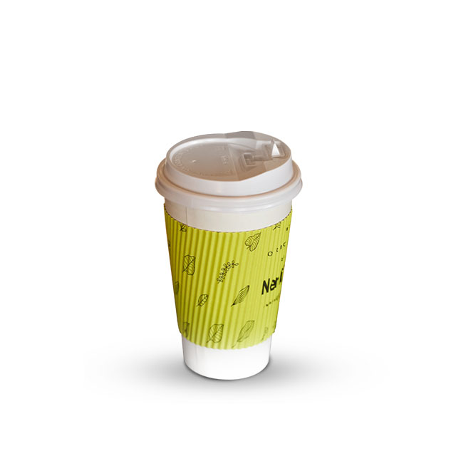 Customized Printed Corrugated Eco Friendly Roll Ripple Paper Cup