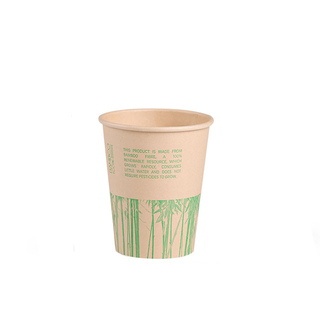 PLA Single Wall Paper Christmas Disposable Coffee Cup